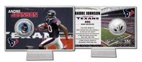 Andre Johnson Silver Coin Card