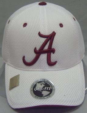 Alabama Crimson Tide White Elite One Fit Hat
