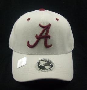 Alabama Crimson Tide White One Fit Hat