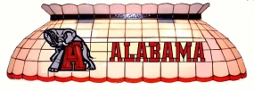 Alabama Crimson Tide Pool Table Light