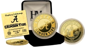 University of Alabama 24KT Gold Coin