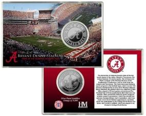 University of Alabama Bryant-Denny Stadium Silver Coin Card