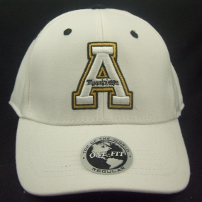 Appalachian State Mountaineers White One Fit Hat