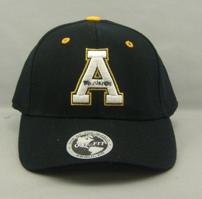 Appalachian State Mountaineers Black One Fit Hat