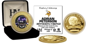 Adrian Peterson 24KT Gold Commemorative Coin