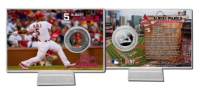 Albert Pujols Silver Plate Coin Card