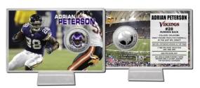 Adrian Peterson Silver Coin Card