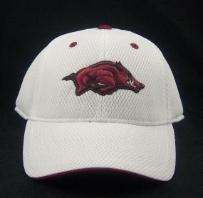 Arkansas Razorbacks White Elite One Fit Hat