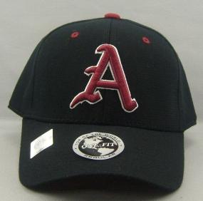 Arkansas Razorbacks Black One Fit Hat