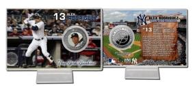 Alex Rodriguez Silver Plate Coin Card
