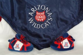 Arizona Wildcats Baby Blanket and Slippers