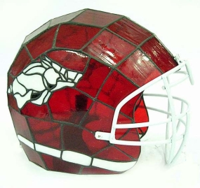 Arkansas Razorbacks Glass Helmet Lamp