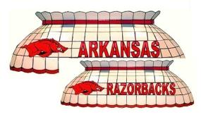 Arkansas Razorbacks Pool Table Light
