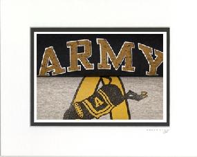 Army Black Knights Vintage T-Shirt Sports Art