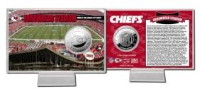 Arrowhead Stadium Silver Coin Card