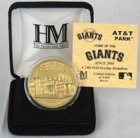 AT&T Park 24KT Gold Commemorative Coin