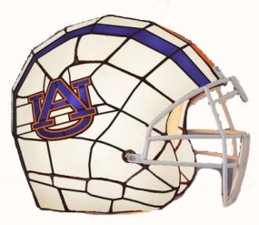 Auburn Tigers Glass Helmet Lamp