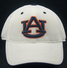 Auburn Tigers White Elite One Fit Hat