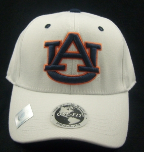 Auburn Tigers White One Fit Hat