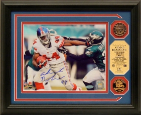 Ahmad Bradshaw Autographed Photomint w/ 2 24KT Gold Coins