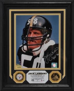 "Jack Lambert ""Autographed"" Photo Mint"