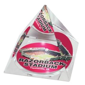 Arkansas Razorbacks Crystal Pyramid