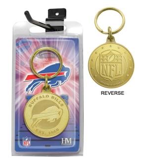 Buffalo Bills Bronze Bullion Keychain
