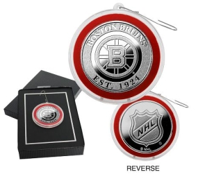 Boston Bruins Silver Coin Ornament