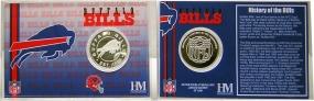 Buffalo Bills Team History Coin Card