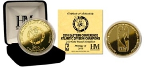 Boston Celtics 2010 Division Champs 24KT Gold Coin