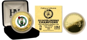 Boston Celtics  2010 Eastern Conference Champions 24KT Gold and Color Coin