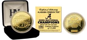 Alabama Crimson Tide 24KT Gold BCS National Champions Commemorative Coin