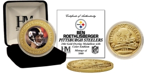 Ben Roethlisberger 24KT Gold Commemorative Coin