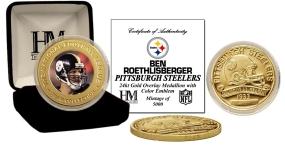 Ben Roethlisberger 24KT Gold Commemorative Coin