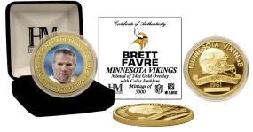 Brett Favre 24KT Gold Commemorative Coin