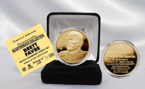 Brett Favre NFL Quarterback Coin Collection 24KT Gold Plated Coin