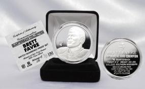Brett Favre NFL Quarterback Coin Collection Pure Silver Coin
