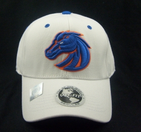 Boise State Broncos White One Fit Hat