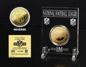 Baltimore Ravens 24KT Gold Game Coin
