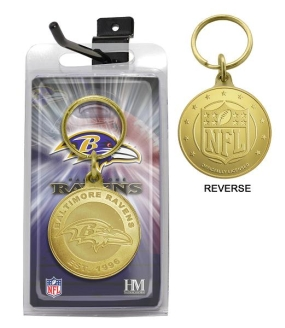 Baltimore Ravens Bronze Bullion Keychain