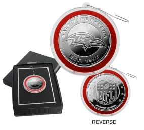 Baltimore Ravens Silver Coin Ornament