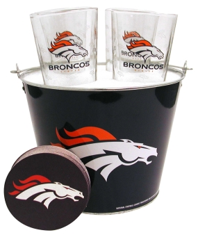 Denver Broncos Gift Bucket Set