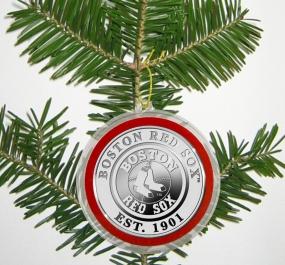 Boston Red Sox Silver Coin Ornament