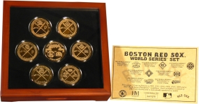 Boston Red Sox 24KT Gold 7 Coin World Series Commemorative Set