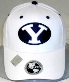 Brigham Young Cougars White One Fit Hat