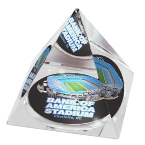 Carolina Panthers Crystal Pyramid