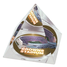 Cleveland Browns Crystal Pyramid
