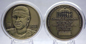 Carmelo Anthony Bronze Coin