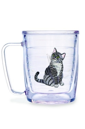 CAT GREY TABBY MUG