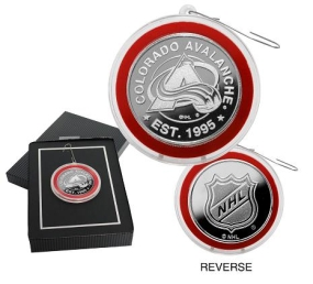 Colorado Avalanche Silver Coin Ornament